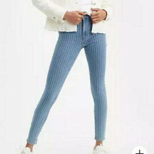 Levi's 721 High Rise Skinny Pinstripe Jeans 25